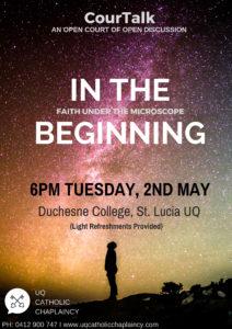 CourTalk: In The Beginning Flyer